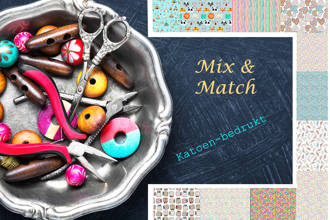 wooden beads for needlework in a stylish tray